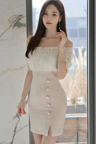 BACKORDER - Kerise Off Shoulder Dress