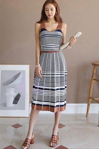 BACKORDER - Kierine Stripe Midi Dress