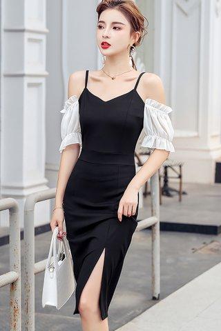 BACKORDER - Lorene Mesh Sleeve Dress
