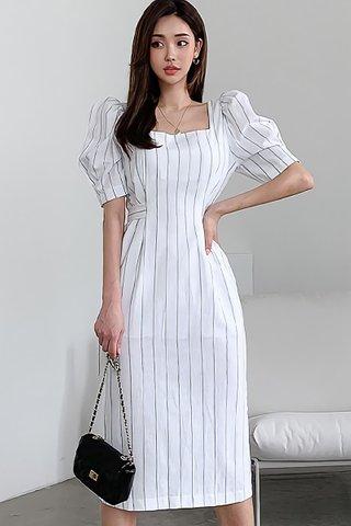 BACKORDER - Meyan Square Neck Stripe Dress