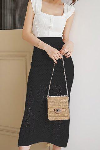 BACKORDER - Shanifer Crochet Overlay Skirt In Black