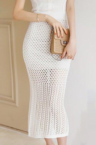 BACKORDER - Shanifer Crochet Overlay Skirt In White