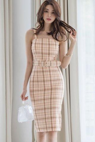 BACKORDER - Varelle Sleeveless Plaid Dress