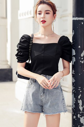 BACKORDER - Annice Ruched Sleeve Top