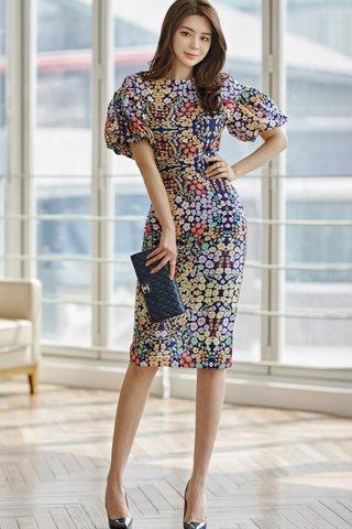 BACKORDER - Atherina Floral Print Top With Skirt Set