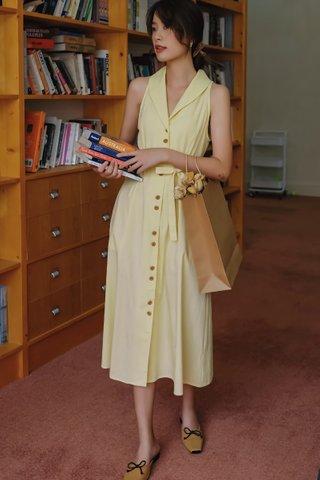 BACKORDER - Dealle Collar Halter Neck Dress