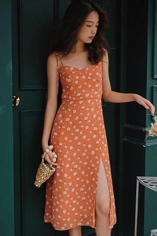 BACKORDER - Karissa Floral Slit Dress