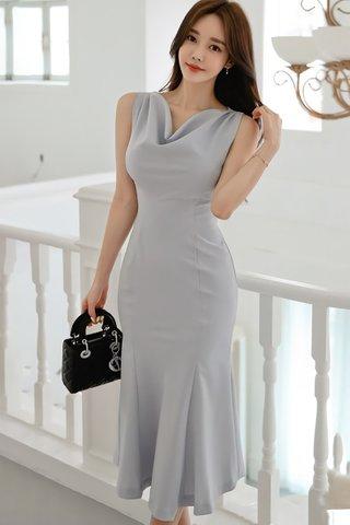 BACKORDER - Kastina Cowl Neck Sleeveless Dress