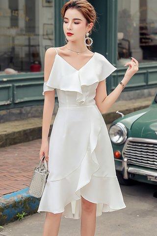 BACKORDER - Kelene One Shoulder Ruffle Dress