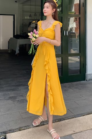 INSTOCK - Melisende Ruffle Slit Dress