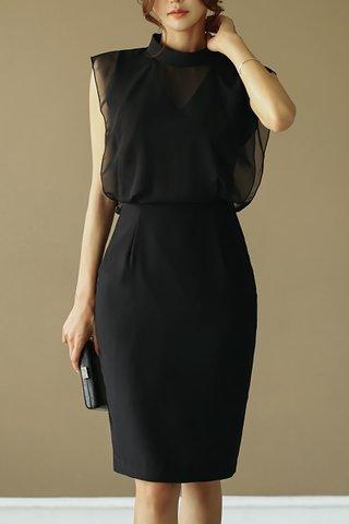 INSTOCK - Sherra Mesh Overlay Dress