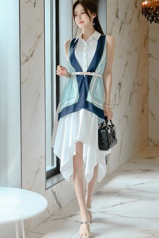 BACKORDER - Sulsan Color Block Asymmetrical Dress