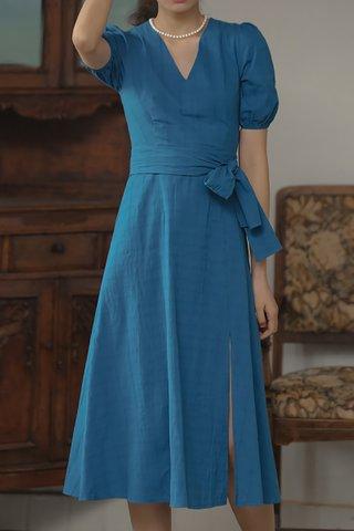 BACKORDER - Wilisa V-Neck Slit Dress