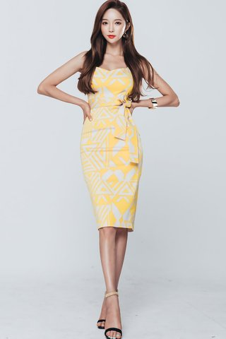 BACKORDER - Yessica Abstract Print Dress