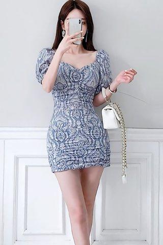 BACKORDER - Aeldie Ruched Gathered Mini Dress