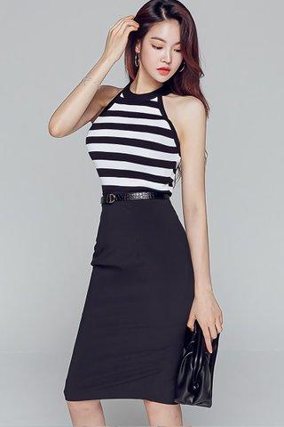 BACKORDER - Brendra Stripe Top With Skirt Set