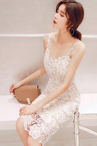 BACKORDER - Charlyn Crochet Overlay Dress