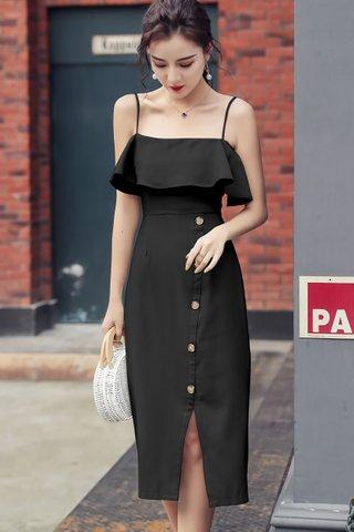 BACKORDER - Ellmor Cold Shoulder Dress In Black