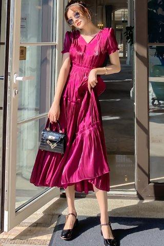 BACKORDER - Felicina V-Neck Ruched Dress