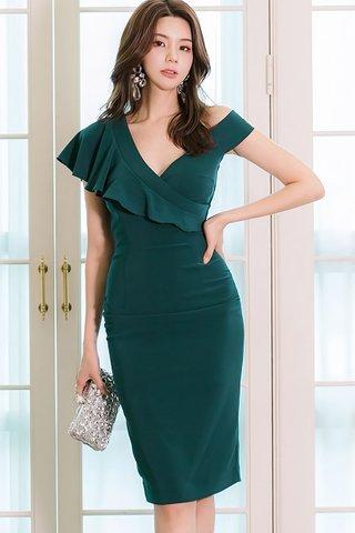 BACKORDER - Jassey V-Neck Ruffle Dress