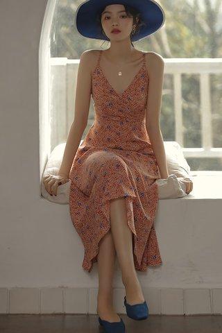 BACKORDER - Jerdi Criss Cross Back Dress
