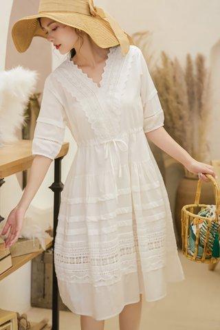 BACKORDER - Jermita Sleeve Babydoll Dress In White