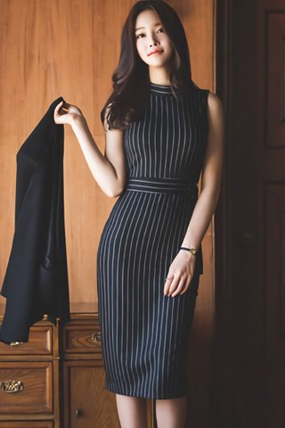 BACKORDER - Jotrina Stripe Sleeveless Dress