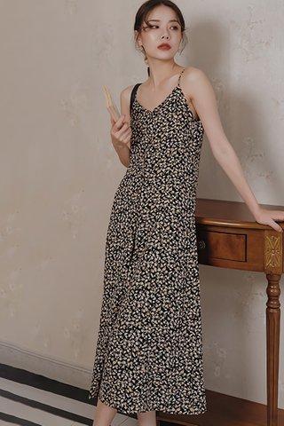 BACKORDER - Kalicia V-Neck Sleeveless Dress In Black