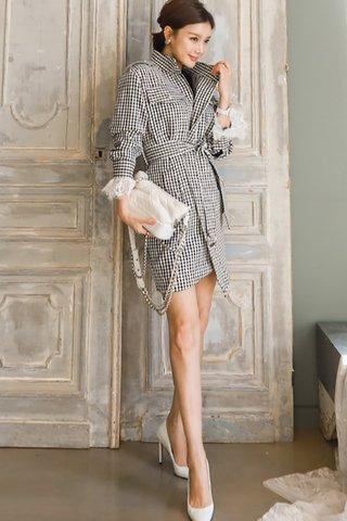 BACKORDER - Kancy Sleeve Plaid Outerwear