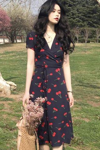 BACKORDER - Karlyn Cherry Wrap Dress