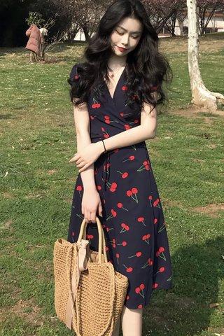 INSTOCK - Karlyn Cherry Wrap Dress