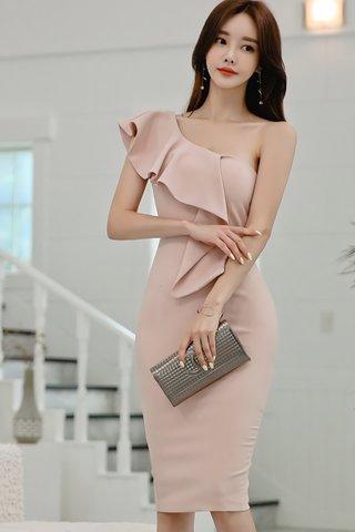 BACKORDER - Klorinda Cascade Ruffle Dress In Pink