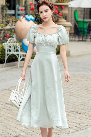 BACKORDER - Melde Ruched Puff Sleeve Dress