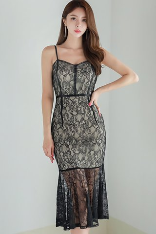BACKORDER - Perrisa Lace Overlay Dress