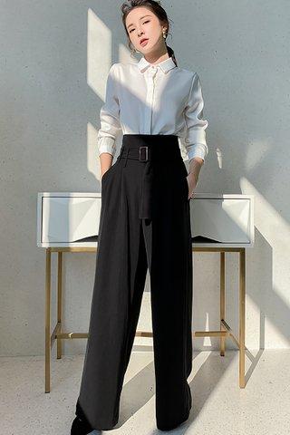 BACKORDER - Rosine High Waist Cutout Pant In Black
