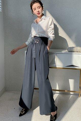 BACKORDER - Rosine High Waist Cutout Pant In Blue