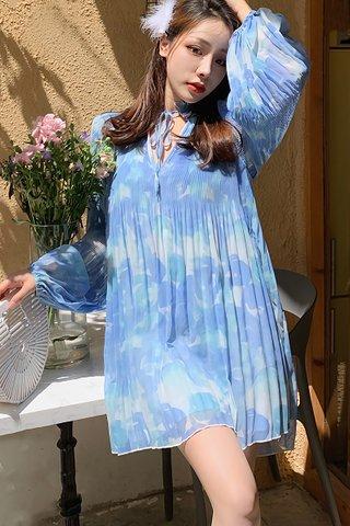 BACKORDER - Shabe Pleat Sleeve Oversized Dress