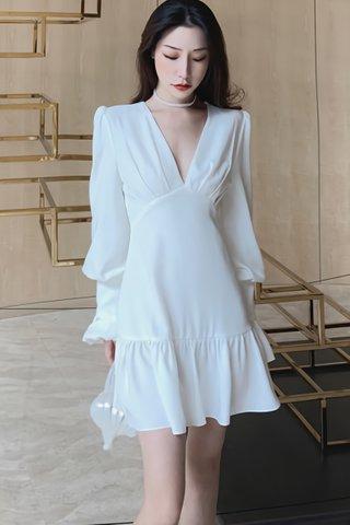 BACKORDER - Sharise Deep V-Neck Bell Sleeve Dress