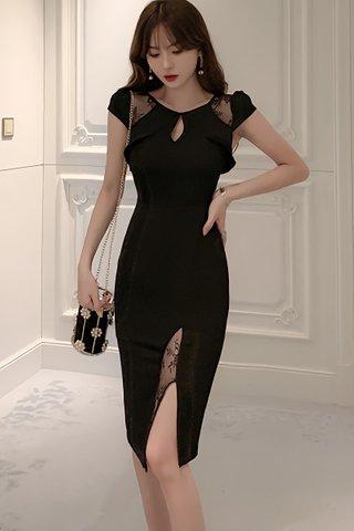 BACKORDER - Valtina Keyhole Lace Dress