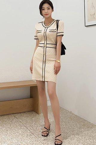BACKORDER - Vanora Sleeve Single Breasted Dress