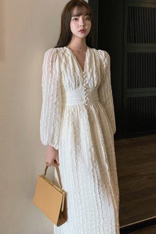 BACKORDER - Jurise V-Neck Sleeve Dress