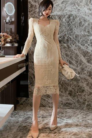 BACKORDER - Morise Overlay Lace Dress