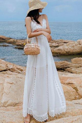 BACKORDER - Iryan Lace Mesh Maxi Dress