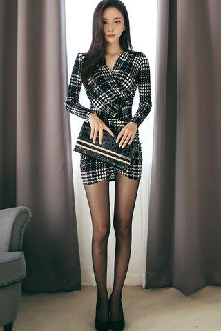 BACKORDER - Jovine Sleeve Asymmetrical Dress In Black