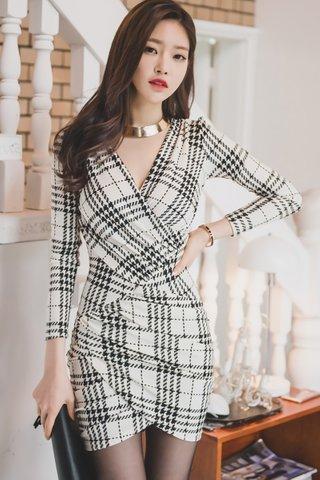 BACKORDER - Jovine Sleeve Asymmetrical Dress In White