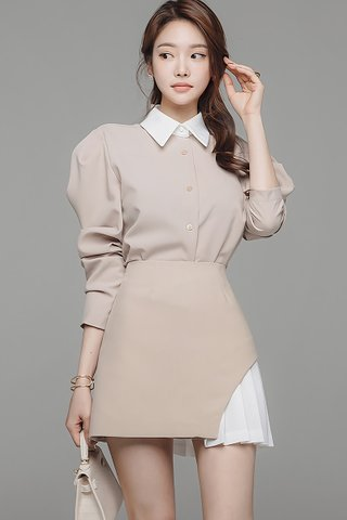 BACKORDER - Rosanna Collar Top With Skirt Set