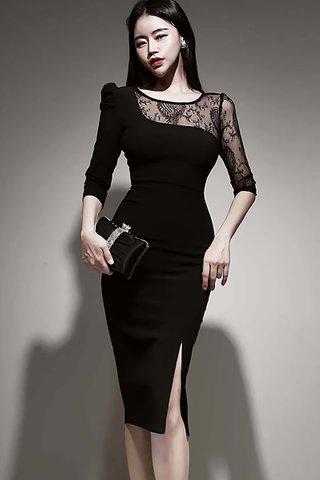 BACKORDER - Seline One Shoulder Lace Dress