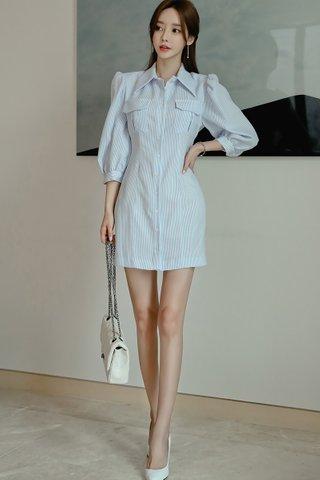 BACKORDER - Verisa Pinstripe Shirt Dress