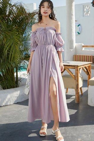 BACKORDER - Vicersa Off Shoulder Puff Sleeve Dress