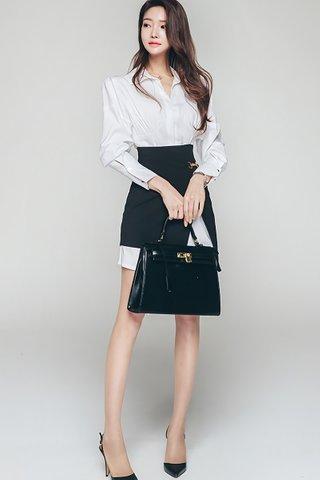 INSTOCK - Anna Shirt Dress With Asymmetrical Skirt